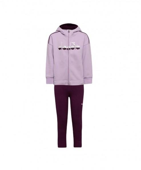 Abbigliamento Tuta Diadora Junior JG.Hoodie FZ Suit 5Palle violet orchid 49,00€