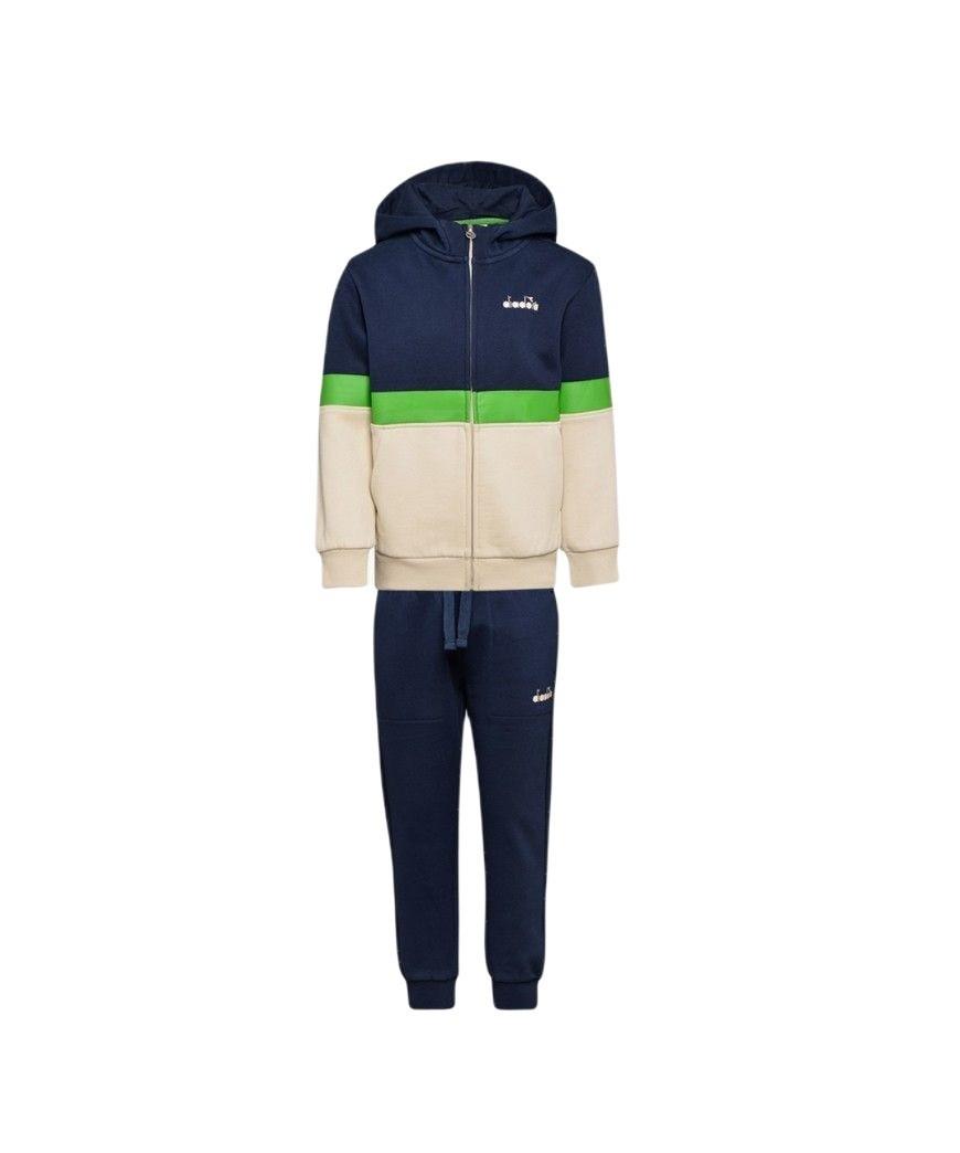 Abbigliamento Tuta Diadora Junior JG.Hoodie FZ Suit 5Palle Beige Fog 49,00€