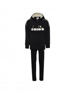 Abbigliamento Tuta Diadora Junior JG.Hoodie FZ Suit 5Palle Black 49,00€