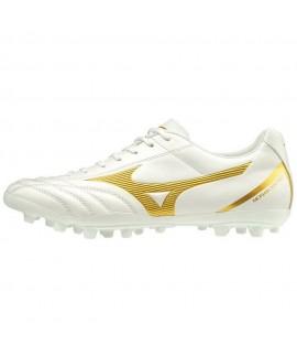 Scarpe Scarpa Calcio Uomo Mizuno Monarcida Neo Select AG - P1GA202650 bianca/oro 49,00€